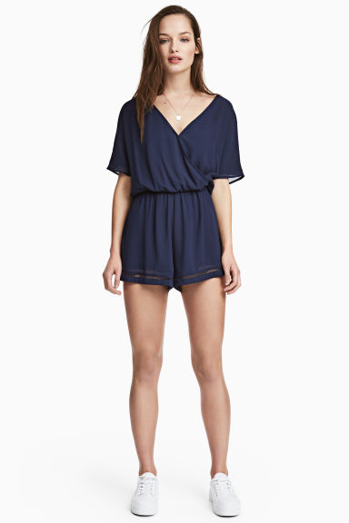Playsuit - Dark blue - Ladies | H&M 1