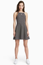 Textured jersey dress - Black/Spotted - Ladies | H&M 1