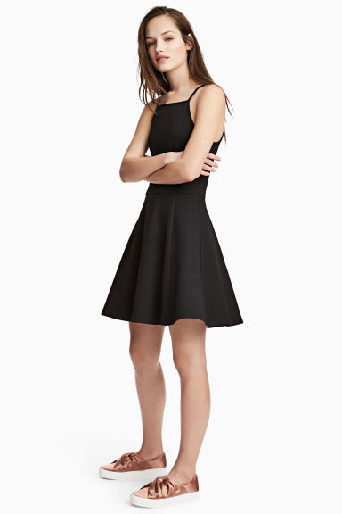 Textured jersey dress - Black - Ladies | H&M GB 1