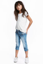 Skinny Fit Capri Jeans - Denim blue - Kids | H&M 1