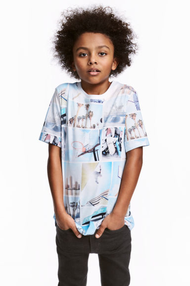 Printed T-shirt - White/Photo - Kids | H&M 1