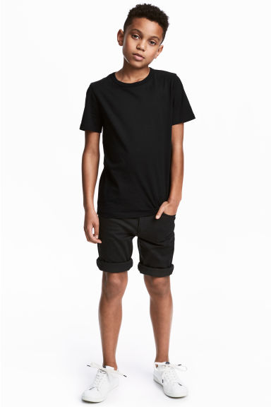 Twill shorts - Black - Kids | H&M CA 1