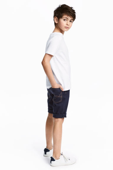 斜紋短褲 - Dark blue - Kids | H&M