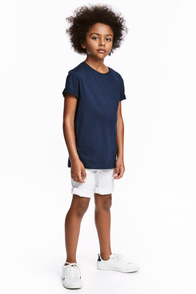 Twill shorts - White - Kids | H&M CN 1