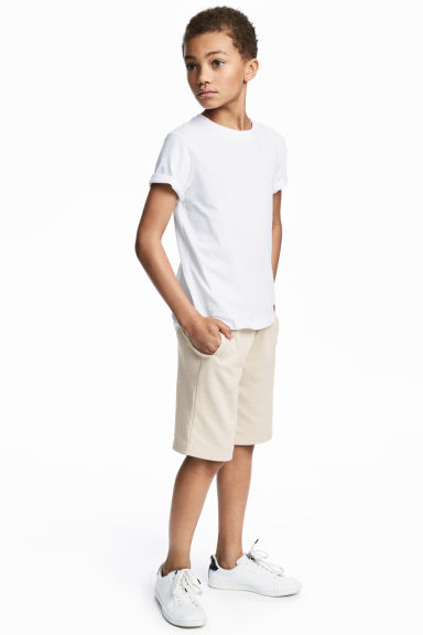 Sweatshirt shorts - Light beige - Kids | H&M