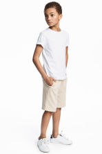 Sweatshirt shorts - Light beige - Kids | H&M 1