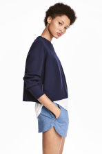 Sweatshirt shorts - Blue marl - Ladies | H&M CA 1