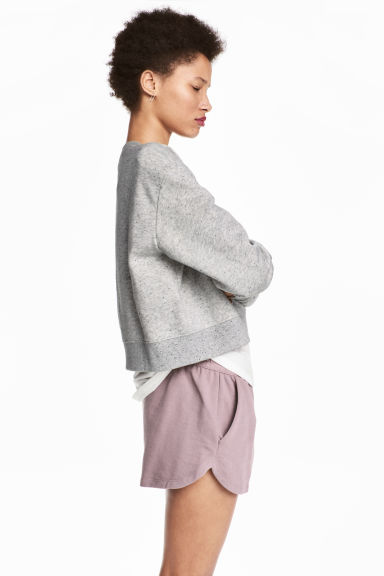 Sweatshirt shorts - Heather purple - Ladies | H&M 1