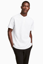 T-shirt with buttons - White - Men | H&M 1