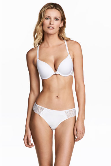 Lace Brazilian briefs - White - Ladies | H&M CN 1