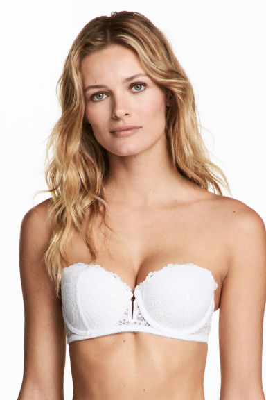 Lace balconette bra - White - Ladies | H&M 1
