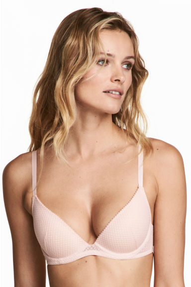 Lace push-up bra - Powder pink - Ladies | H&M 1