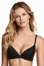 Lace push-up bra - Black -  | H&M 1