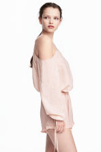 Cold shoulder blouse - Powder pink/Pattern - Ladies | H&M 1