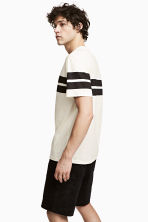 Printed T-shirt - Natural white/Striped - Men | H&M 1