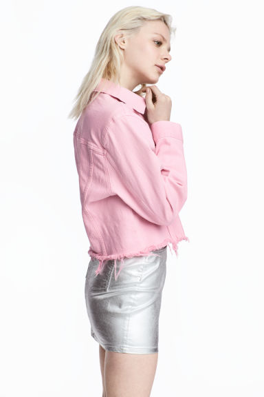 Denim jacket - Light pink - Ladies | H&M GB 1