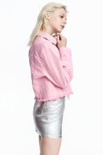 Denim jacket - Light pink - Ladies | H&M CN 1