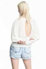 Ribbed jumper - White - Ladies | H&M CA 1