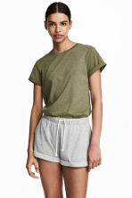 Top in jersey - Verde kaki - DONNA | H&M IT 2