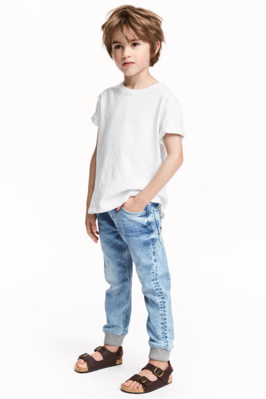 Super Soft denim joggers - Light denim blue - Kids | H&M