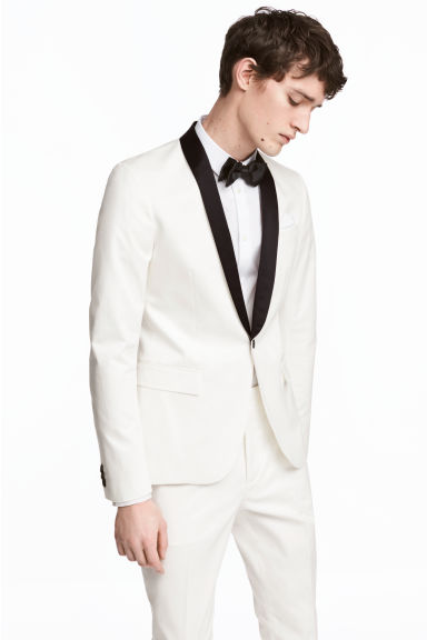 Tuxedo jacket Slim fit - White - Men | H&M 1