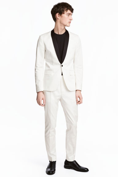 Suit trousers Skinny fit - White - Men | H&M 1