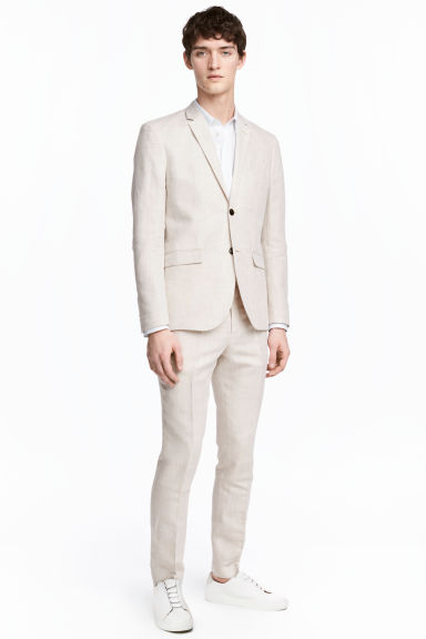 Suit trousers Slim fit - Light beige - Men | H&M 1