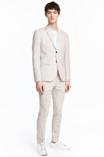 Jacket Slim fit - Light beige - Men | H&M CA 1