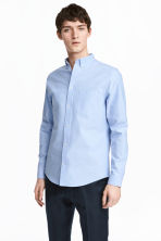 Oxford shirt Slim fit - Light blue - Men | H&M 1
