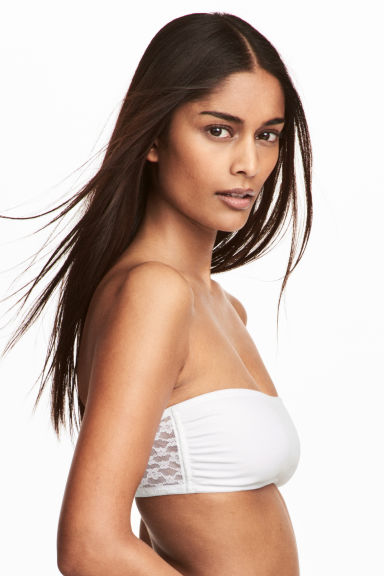 2-pack bandeau bras - White/Black - Ladies | H&M