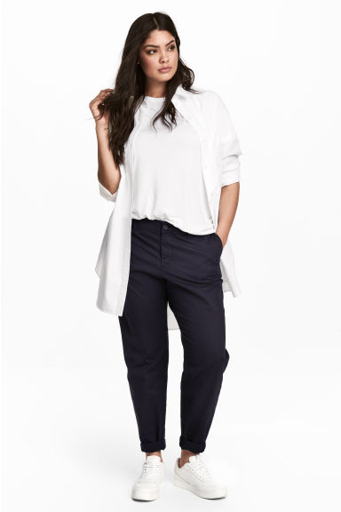 H&M+ Chinos - Dark blue - Ladies | H&M 1