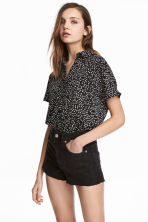Crêpe blouse - Black/Spotted - Ladies | H&M 1