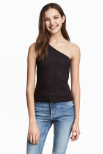One-shoulder top - Black - Ladies | H&M 1