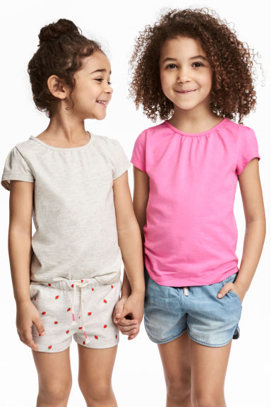 2-pack jersey tops - Cerise - Kids | H&M