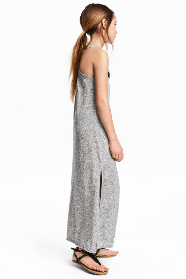 Printed maxi dress - Grey marl - Kids | H&M 1