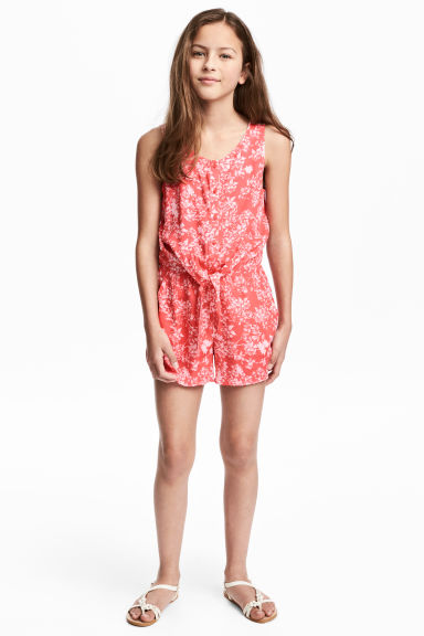 Playsuit - Coral/Patterned -  | H&M