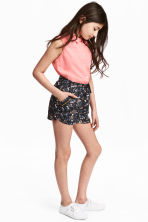 Lyocell shorts - Dark grey/Floral -  | H&M 1