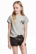 Top en jersey - Gris chiné/New York - ENFANT | H&M FR 1