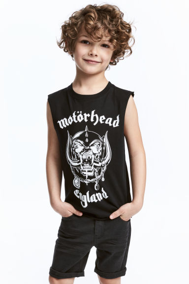 Printed vest top - Black/Motörhead - Kids | H&M CN 1