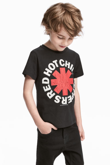 Printed T-shirt - Black/Red Hot Chili Peppers -  | H&M CN 1