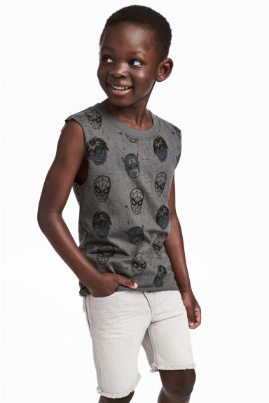 Printed vest top - Dark grey/Marvel Comics -  | H&M 1