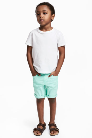 Twill shorts - Mint green - Kids | H&M