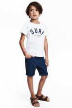 斜紋短褲 - Dark blue - Kids | H&M 1