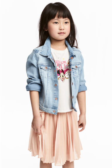 Printed jersey top - White/Minnie Mouse - Kids | H&M CA 1