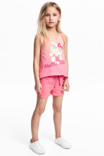 Canotta e shorts in jersey - Hello Kitty/rosa - BAMBINO | H&M IT 1