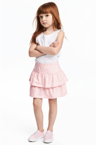 汗布半身裙 - Light pink/Heart - Kids | H&M CN 1