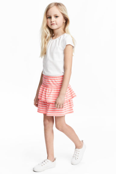 Jersey skirt - Pink/Striped - Kids | H&M 1