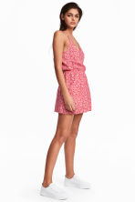 Playsuit - Red/Patterned - Ladies | H&M CN 1