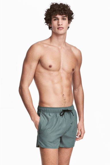 Short swim shorts - Grey green - Men | H&M CN 1