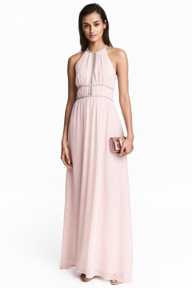 Long dress - Light pink - Ladies | H&M CN 1